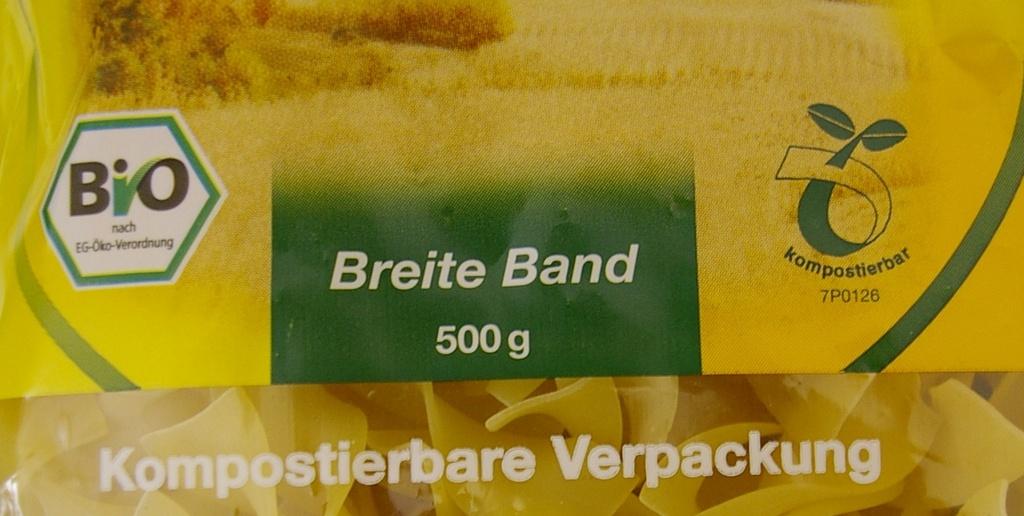 Bio Verpackung Aufdruck