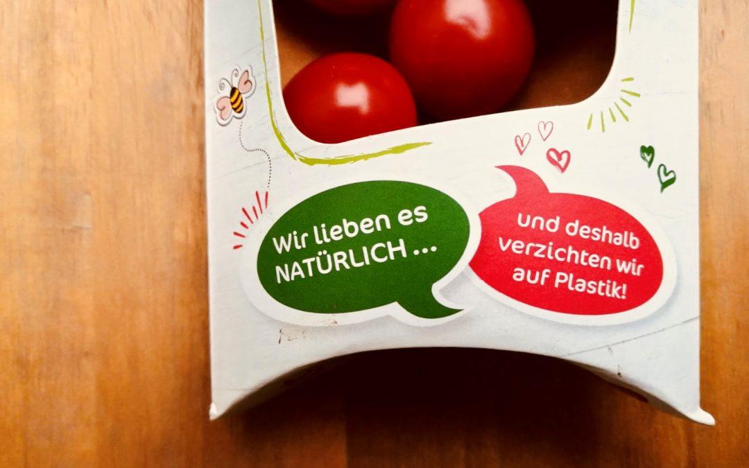 Plastikfreie süße Tomaten