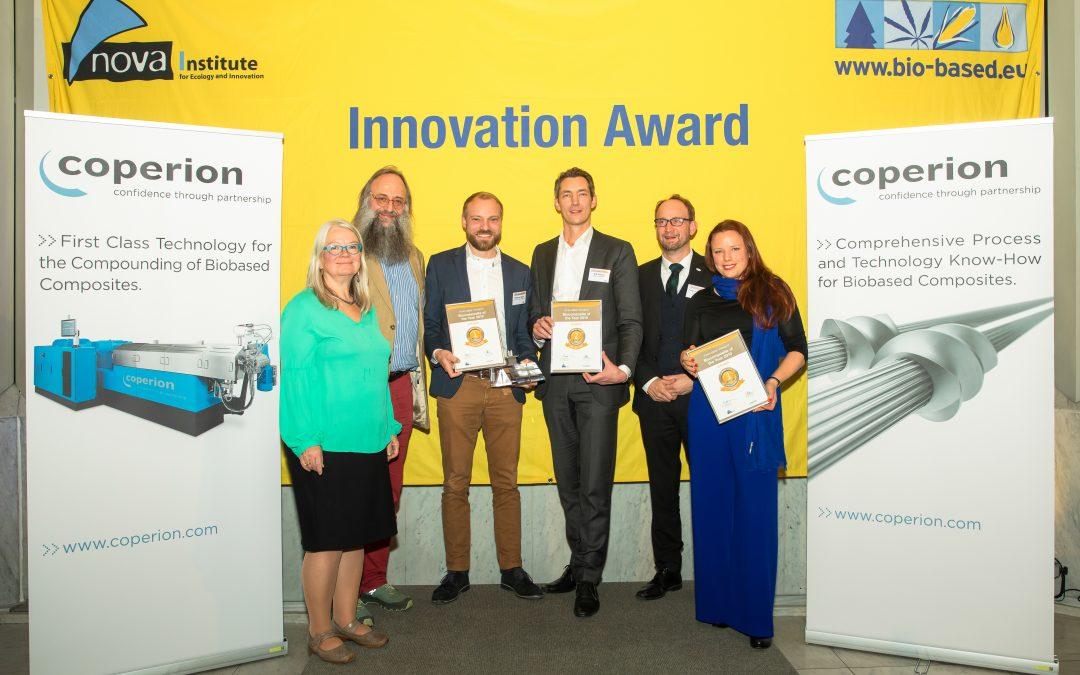 """Gewinner des Innovationspreises """"Biocomposite of the Year 2019"""""""