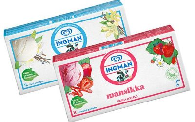 Unilever stellt Ingman-Eiscreme auf Papierverpackung um